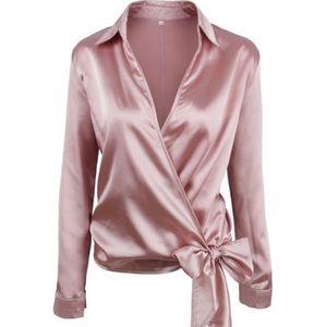 Pink Satin Top   (NWT)